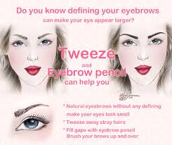 makeup tip eyes look larger define eyebrow