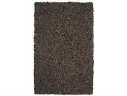 st croix pelle leather rectangular dark brown area rug