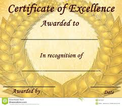 Certificate Of Excellence Template Free Certificate Of Excellence Stock Illustration Illustration Of 9