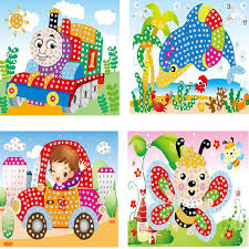 kids diy cartoon diamond painting by numbers handicraft art craft sticker material educational toys for children