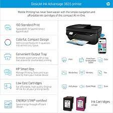 Print, scan and copy are the common functions. Hp Officejet 3835 Wireless Printer Amazon