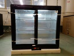 double sliding glass doors back bar wine cooler with lock