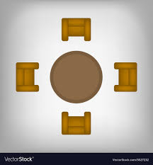 table and chairs top view vector image table c53 and