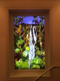 stained glass waterfall