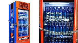 Cleveland Browns Win Unlocks Bud Light Smart Fridges All At