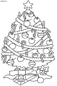 Kleurplaat Kerstboom De Mooiste Kleurplaten Militonl