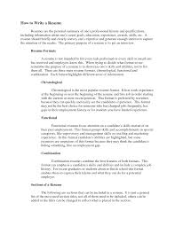 How To Write A Resume Summary Horsh Beirut