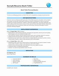 Resume Examples Bank Teller Objective Elegant Bank Teller Resume