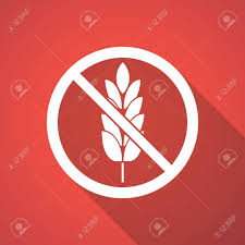 Free Sign Long Shadow Illustration Of A Gluten Free Sign