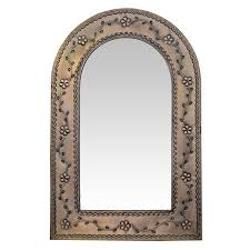 large arched mirror. Oxidized Finish Large Arched Mirror