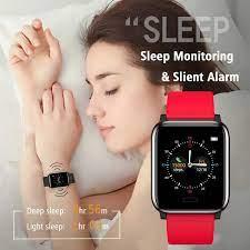 L8star Renkli Ekran Kalori Sayacı Akıllı Saat Kırmızı