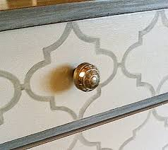 chevron painted furniture. Painted Patterns On Furniture - Quatrefoil And Chevron E