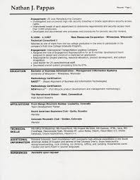 Resume Heading Examples Simple Resume Template