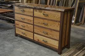 hand made walnut dresser with live edge elm burl top by corey