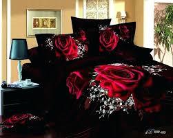 red and black bedroom set red rose black queen size modern duvet covers comforters bedroom sets