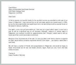 Real Estate Recommendation Letter Sample Cover Letter Samples For Real Estate Agent Templates