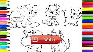 Coloring Pages Cute Animals Drawing Pages