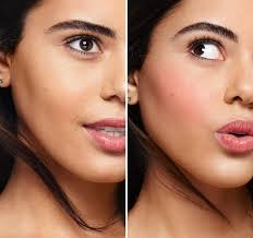 blush before and after. galifornia pink blusher before and after blush 0