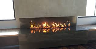 boillot linear open gas fireplace