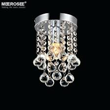 chandeliers small crystal chandelier 1 light mini fixture clear re lamp for aisle stair hallway