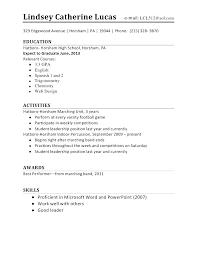 High School Student Resume Resume Of High School Student Job Resume