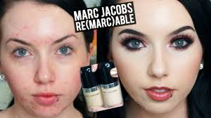 marc jacobs remarcable full coverage foundation demo review pale acne e skin you