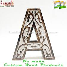 Wooden Letters Design Indian Handmade Large Wooden Wholesale Wood Letters Custom Antique