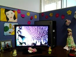 decorating your office cubicle. Image Of: Office Cubicle Decoration Ideas Decorating Change Intended For Your L