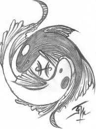 Pisces Drawing Design Wonderful Grey Ink Pisces Tattoo Design