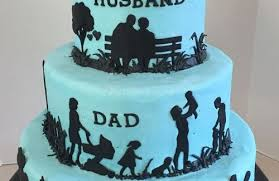 Husband Dad Grandpa Silhouette Birthday Cake Sweet Creations By