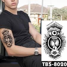 12x19 см водонепроницаемые временные татуировки всевидящие глаза вспышка тату