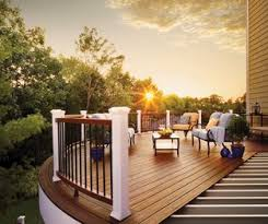 faux wood decking. Unique Wood Trex Elevations Steel Deck Framing Supports A Transcend Woodalternative  Composite At Sunset Composite Decking Intended Faux Wood