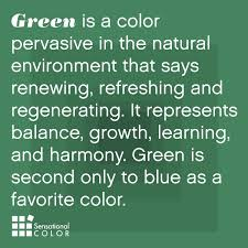The meaning and symbolism of the color green -- Green is the color  pervasive in