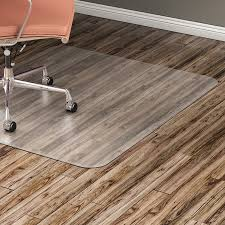 lorell hard floor 60 rectangular chairmat hard floor wood floor vinyl floor tile floor 60 length x 46 width x 95 mil thickness rectangle vinyl