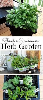one pot container herb garden marker