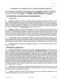 Non Disclosure Agreement Form Simple Sample Essential Gallery ...