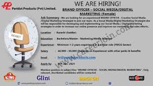 Peridot Products Pvt Ltd Jobs Brand Officer Social Media / Digital Marketing