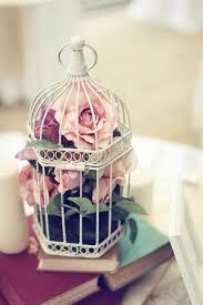 Flower Bird Cages Decor