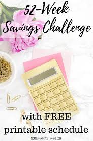 52 Week Money Chart 52 Week Money Saving Challenge Morning Motivated Mom