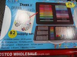 art 101 doodle draw and sketch supply set costco 2