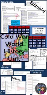 cold war activities timeline group activities and quizzes games cold war world history unit this unit includes click on the green links to learn more about the included products editable lecture notes europe after