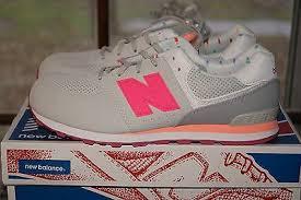 Youth New Balance ML 574 <b>SBW Pink</b> Orange White Gray Sz 6.5 ...