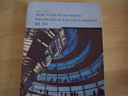 Introduction To Engineering Design Study Guide Study Guide To Accompany Introduction To Law And Commerce Ba