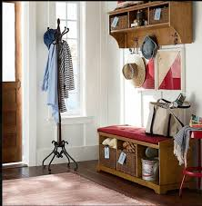 surprising entryway coat rack 19 entry way storage and rattan wicker baskets below tufted seat cushion