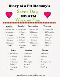 7 day workout plan at home awesome diary of a fit mommy s 7 day no