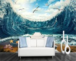 Ocean Wallpaper For Bedroom Online Get Cheap Wallpaper Wave Sea For Bedroom Aliexpresscom
