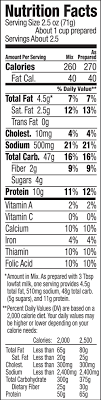 Cheese Nutrition Chart Shells White Cheddar Annies Homegrown