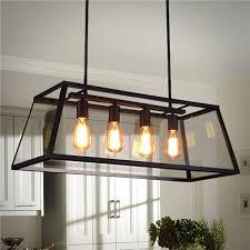 4 head industrial chandelier led ceiling light modern large pendant lamp for kitchen room ac110 220v cod