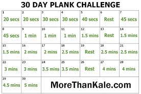 30 Day Challenge Calendar Printable Innovative Plank Pdf Natalietan