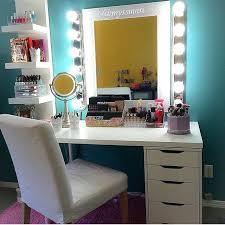 Makeup Vanity Desk Bedroom Furniture With Within Vanities Storage Design 2
